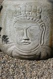 Buddha's face on Stone Stock Photo
