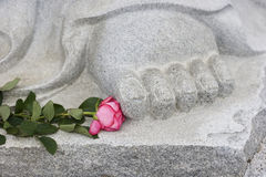 Buddha's feet stock photos