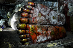 Buddha's feet Royalty Free Stock Image