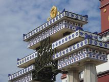 Buddha's five fingerprints palace's doorpost Royalty Free Stock Image