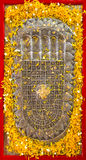 Buddha's Footprint Royalty Free Stock Photos