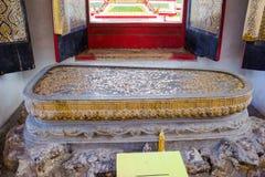 Buddha's footprint royalty free stock photo