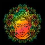 Buddha ` s głowy tatuaż ilustracja wektor