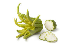 Buddha's hand fruit with slices Stock Photo