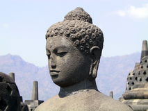 Buddha's head. Borobudur Stupa, Java, Indonesia Stock Image