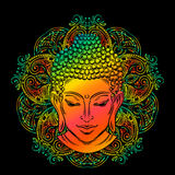 Buddha`s head tattoo Stock Images