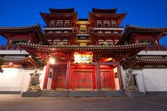 Buddha's Relic Tooth Temple in Singapore Chinatown Stock Photos
