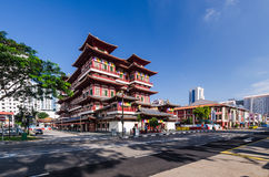 The Buddha's Relic Tooth Temple in Singapore Stock Photos