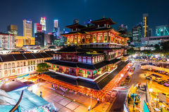 Buddha's Relic Tooth Temple in Singapore Chinatown Stock Image