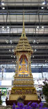 Buddha's Relics Stupa in Bangkok Airport. Thai traditional architecture with Buddha's Relics is displayed in Suvannabhumi Airport, Bangkok, Thailand stock photography