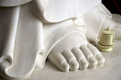Buddha's right foot royalty free stock images
