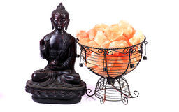 Buddha and sacred salt Stock Photography
