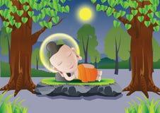 Buddha-Schlaf vektor abbildung