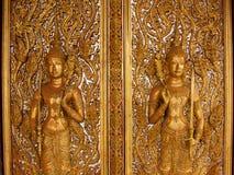 Buddha-Schnitzen lizenzfreies stockfoto