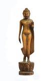 Buddha schnitzte Holz lizenzfreie stockfotografie