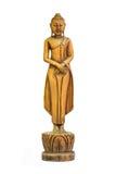Buddha schnitzte Holz lizenzfreies stockbild