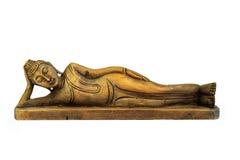 Buddha schnitzte Holz stockfotografie