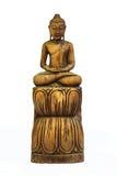 Buddha schnitzte Holz lizenzfreie stockbilder