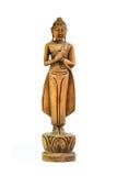 Buddha schnitzte Holz lizenzfreie stockfotos