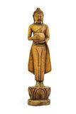 Buddha schnitzte Holz stockfoto