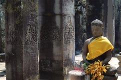 Buddha-Schrein am Eingang zum Bayon Lizenzfreie Stockfotografie