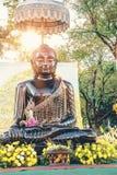Buddha schwärzen Statue in Sanam Luang, Bangkok, Thailand Lizenzfreie Stockfotos