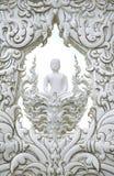 Buddha sculpture. In rong khun temple Stock Photos