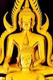 Buddha sculpture. Golden color lord buddha sculpture Royalty Free Stock Photography