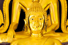 Buddha sculpture. Golden color lord buddha sculpture Stock Photography