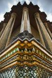 Buddha sculpture. On Wat Phra Kaew Bangkok, Thailand Royalty Free Stock Images