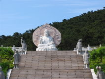 Buddha sculpture. In weihai city Royalty Free Stock Photos