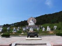 Buddha sculpture stock image