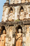 Buddha sculpture on buddhist pagoda in temple Stock Images
