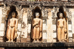 Buddha sculpture on buddhist pagoda in temple Royalty Free Stock Photo