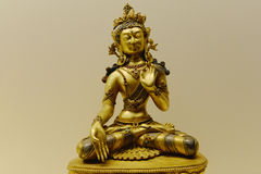 Buddha sculpture in gold Stock Photos