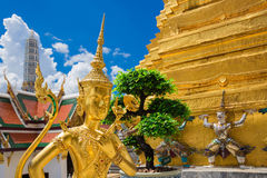 Buddha sculpture Grand palace also calles Wat Phra Kaew in Bangk Stock Images