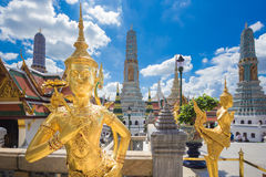 Buddha sculpture Grand palace also calles Wat Phra Kaew Stock Photo