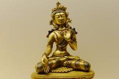 Buddha Sculpture In Gold Stock Photos