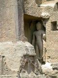 Buddha sculpture. Its photo of Buddha sculpture. Place - Kanheri caves, Mumbai, India royalty free stock photos
