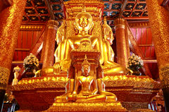 Buddha  sculpture. In nan province of Thailand Royalty Free Stock Photo