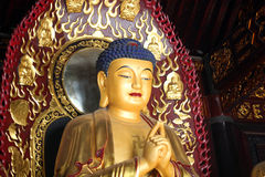 Buddha Sculpture. Sculpture of Buddha in one of the Buddhist temple in China Stock Images