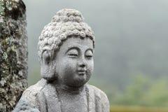 Buddha sculpture portrait. In stone in nature Stock Photo