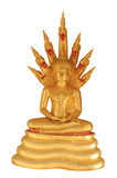 Buddha sculpture and seven naga Royalty Free Stock Photo
