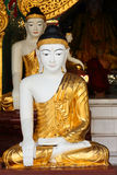 Buddha sculpture, Shwedagon Pagoda, Myanmar Stock Photos