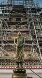 Buddha sculpture. In temple bangkok thailand Royalty Free Stock Photography