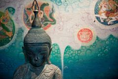 Buddha Sculpture Painting Royalty Free Stock Photos