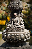 Buddha sculpture in Tibetan Monastery Royalty Free Stock Image