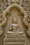 Buddha sculpture on wall at Wat Tham Pu Wa Kanchanaburi, Thailand Stock Photos