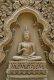 Buddha sculpture on wall at Wat Tham Pu Wa Kanchanaburi, Thailand Stock Photos