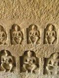 Buddha sculptures. Its photo of Buddha sculptures. Place - Kanheri caves, Mumbai, India stock photo